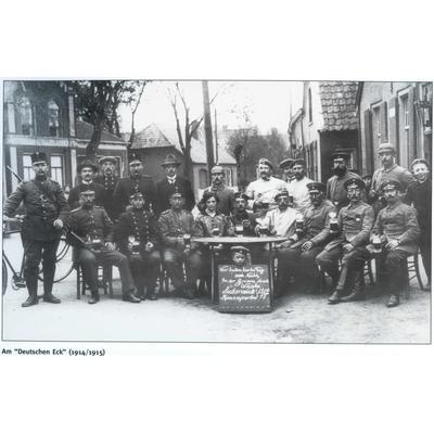 Am deutschen Eck wird Wache gehalten 1914_1915