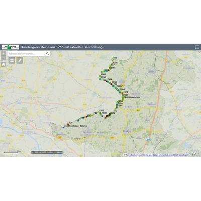 Der Kreis Borken erstellte eine digitale Karte der Grenzsteine zwischen Achterhoek und Münsterland