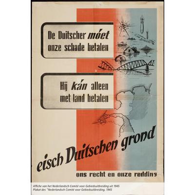 """Plakat des """"Nederlandsch Comité voor Gebiedsuitbreiding"""" 1945"""
