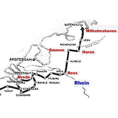 Route der 1. Polnischen Panzerdivision