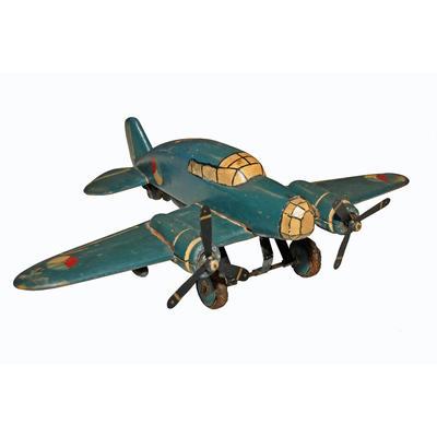 Speelgoedvliegtuig gemaakt van hout
