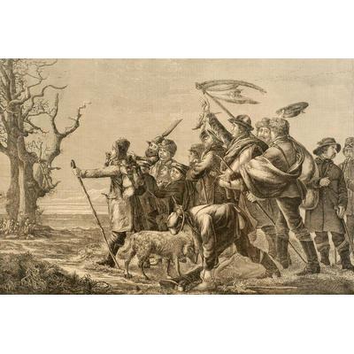 Die Hollandgänger. Zeichnung von L. Preller. Emslandmuseum Lingen
