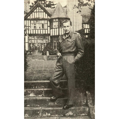 Raymond R. Newmark als amerikanischer Soldat in Deutschland