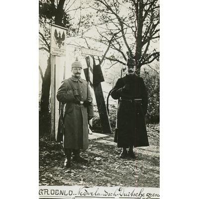 Hendrik ten Hoopen (1882-1962) bewacht den Grenzübergang Holterhoek-Zwillbrock 1916