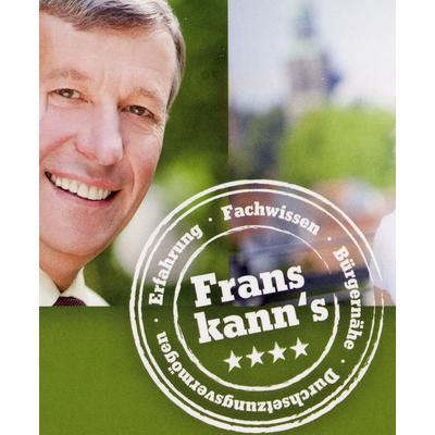 Frans kann's: Willemes Slogan für die Bürgermeisterwahl